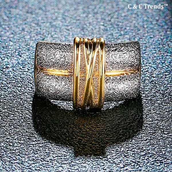 Double Loop Cocktail Ring