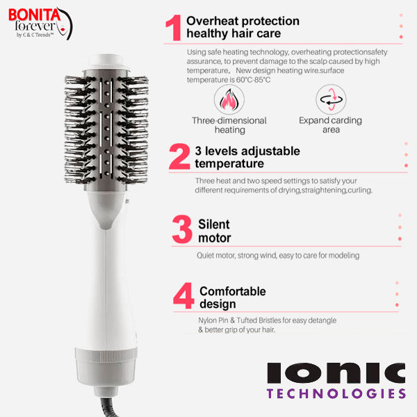 Dryer & Volumizing Multifunctional  Ionic Brush 8