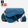Fashion Lamb hair Saddle Shoulder Bag