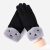 Female Warm Cashmere Touch Screen Gloves