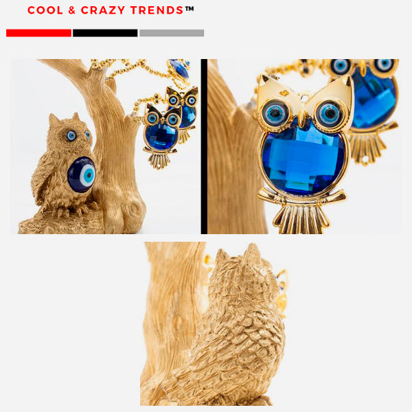 Feng Shui Tree of Owls for Prosperity