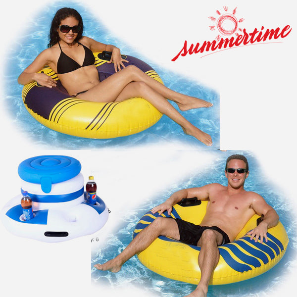 Funny Inflatable Ice Bucket & Cup Holder
