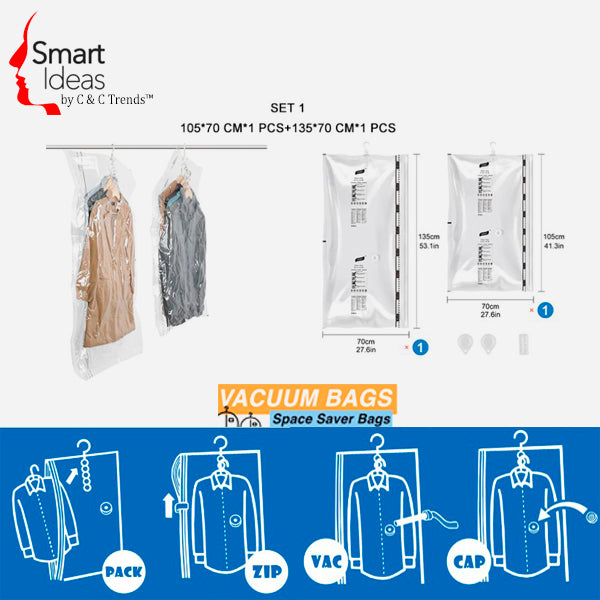 Hanging Vacuum Storage bag (3X Space Saving) 7