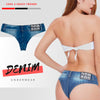High Cut Double Button Denim Underwear