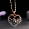 Honeycomb Bee Heart Necklace