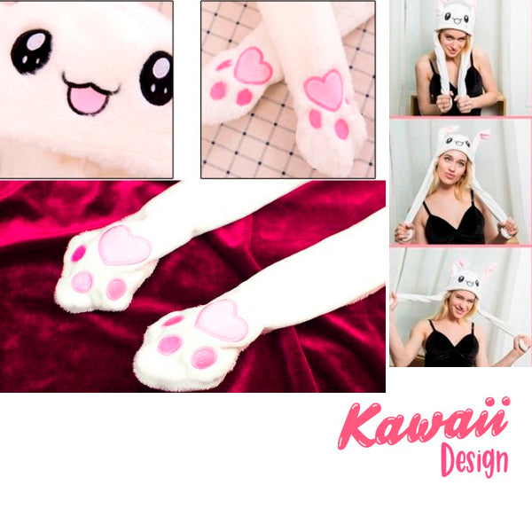 Kawaii Plush Hat with Dancing Ears