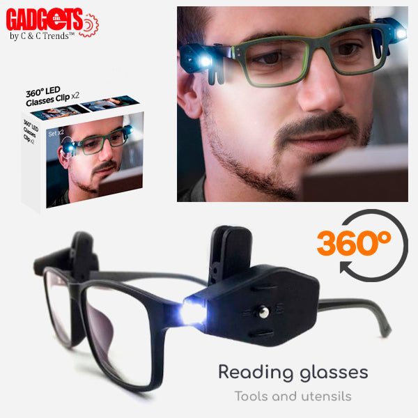 LED Rotating Reading Glasses Clip 2
