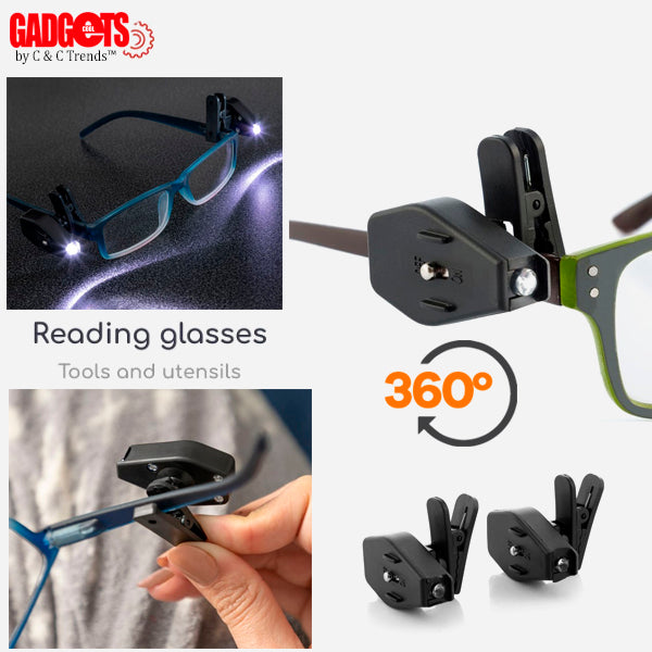 LED Rotating Reading Glasses Clip 3