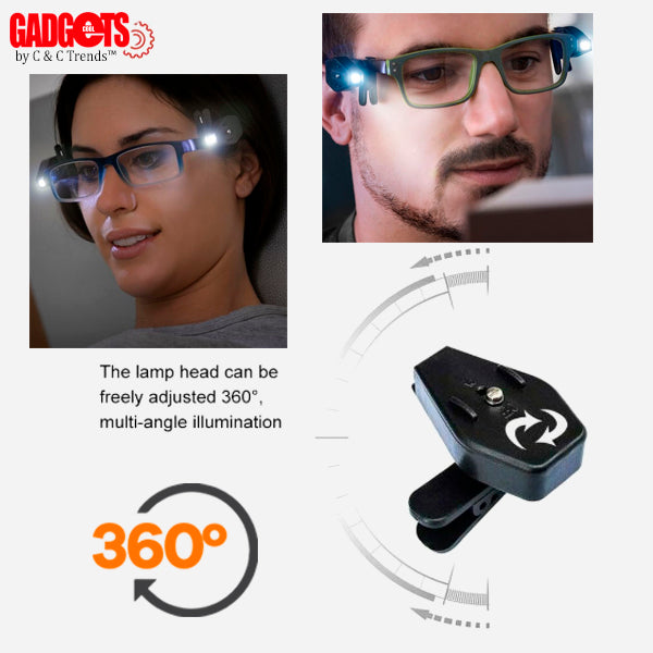LED Rotating Reading Glasses Clip 5