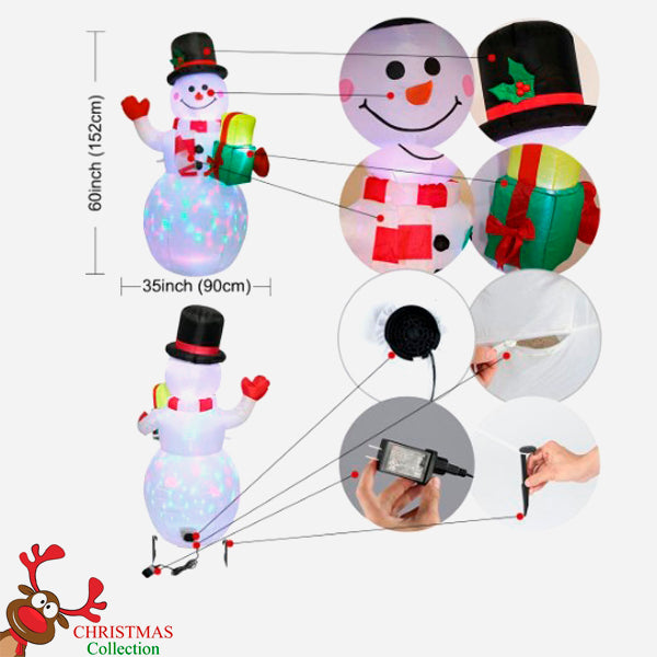LED Light Outdoor/Indoor Inflatable Snowman