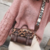 Leopard Faux Fur Crossbody Bag