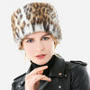 Leopard Faux Fur Warm Hat/ Scarf Set