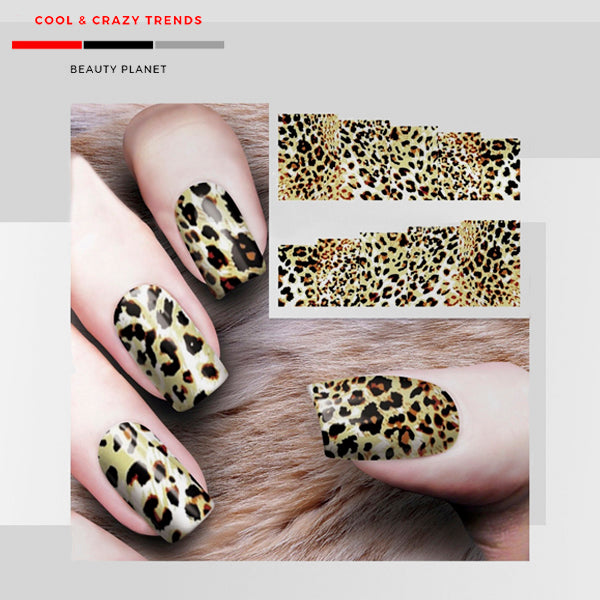 Leopard Nail Design Stickers