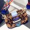 Leopard Print Flap Messenger Bag