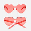 Lolita Style Heart Transparent Rimless Sunglasses