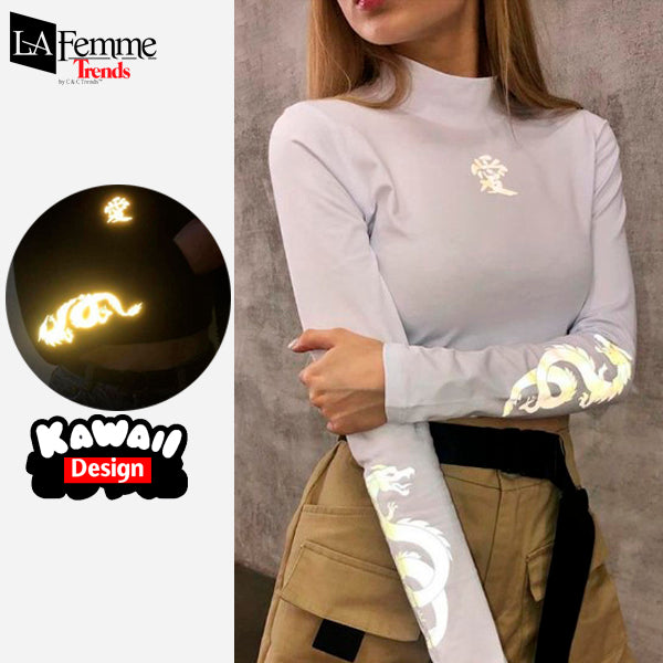 Luminous Dragon Long Sleeve Kawaii Top 3