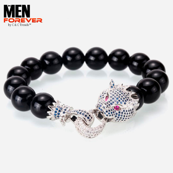 Luxury Dragon Zirconia Men's Bracelet