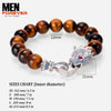 Luxury Dragon Zirconia Men's Bracelet 4a