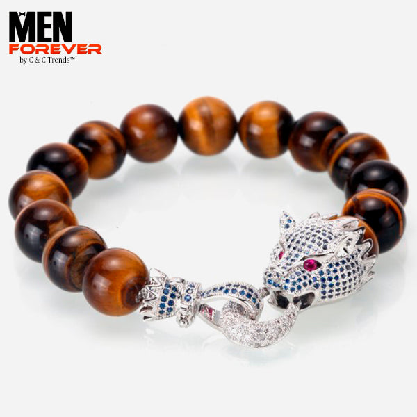 Luxury Dragon Zirconia Men's Bracelet 8