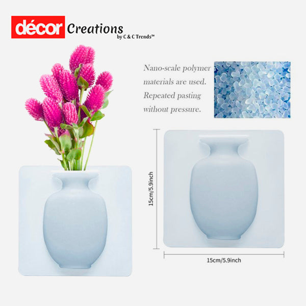 Magic Sticky Silicone Wall Flower Pots