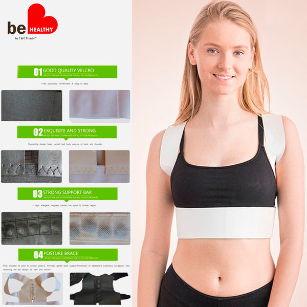 Magnetotherapy Adjustable Posture Corrector Corset 2