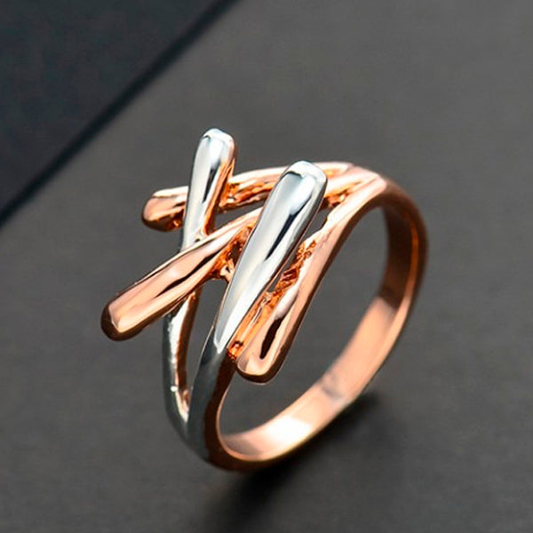 Metallic Fashion Cross Ring