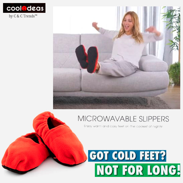 Microwave Foot Warmer Slippers 2