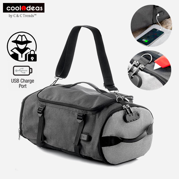 Multifunctional Reinforced Anti-Theft Backpack