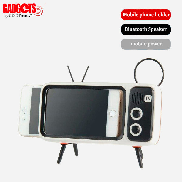 Multifunctional Stand Holder for Retro TV Style Mobile Phone 1a
