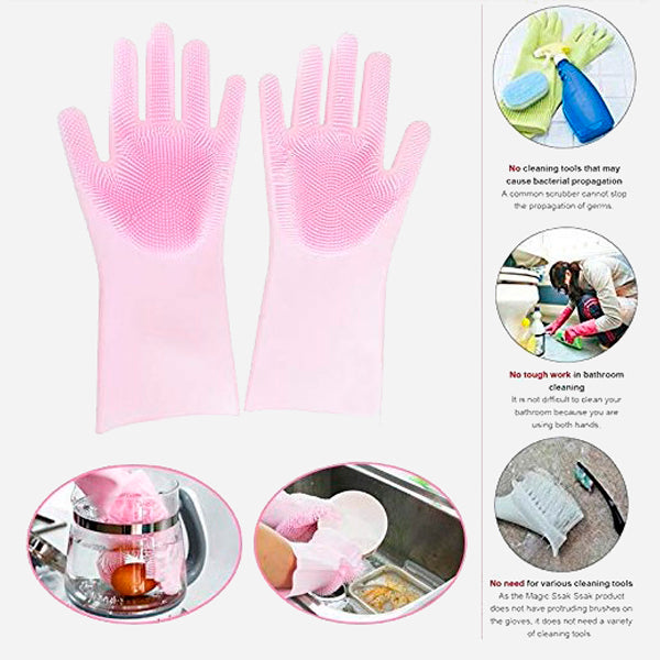 Multipurpose Magic Silicone Cleaning Gloves