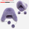 Natural Raccoon Fox Fur Ushanka Hats