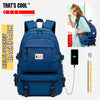 New Waterproof Multi pocket Backpack with External USB port