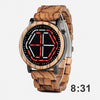 Night Vision Wooden Futuristic Watch