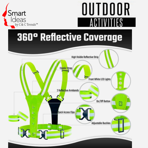 Outdoor Activities LED Reflective Safety Vest  3