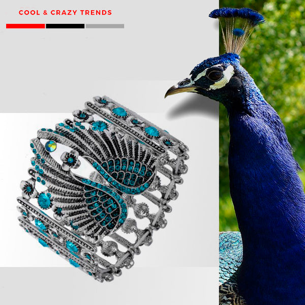 Peacock Wings Stretch Bracelet