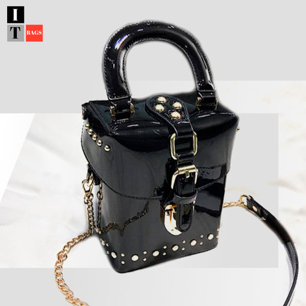 Pearl Studded Bucket Bag