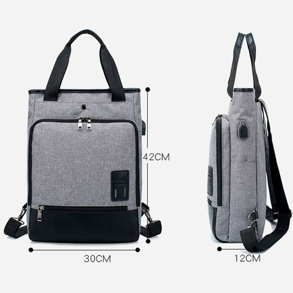 Preppy USB Charging Business Backpack (2 Styles)