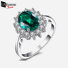 Princess Diana Emerald Silver Ring 12