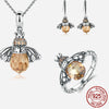 Queen Bee Sterling Silver Jewelry Set