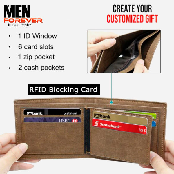RFID Personalized Engraved Photo Wallet 3