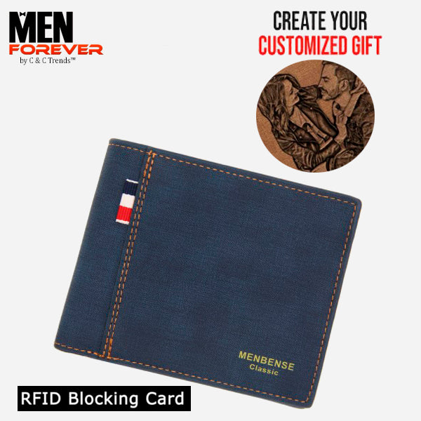 RFID Personalized Engraved Photo Wallet 5