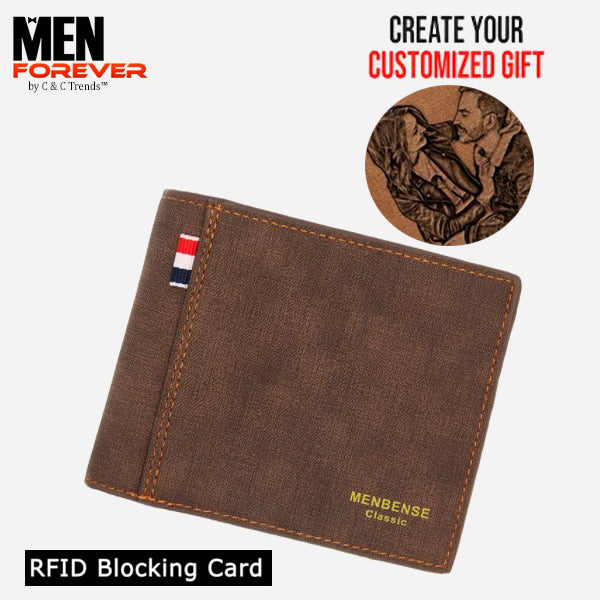 RFID Personalized Engraved Photo Wallet 7