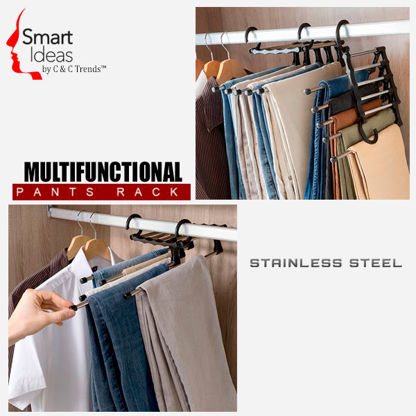 Retractable Stainless Multi Trousers Hanger 3