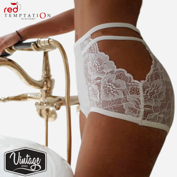 Retro High Waist Lace Briefs 6 new