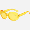 Retro Oversized Oval Candy Color Sunglasses