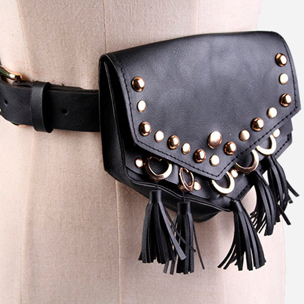 Retro Style Tassel Belt Bag