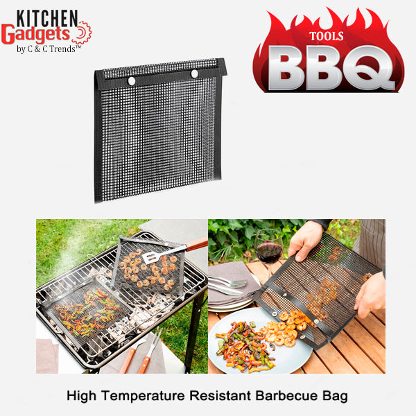 Reusable Nonstick BBQ Mesh Bag (x 2)