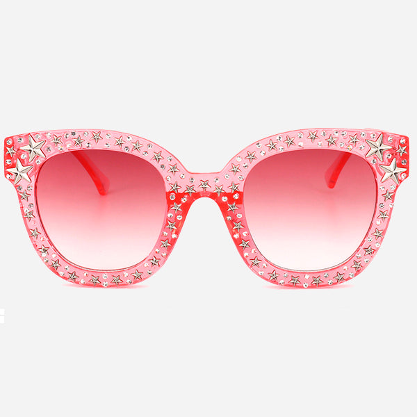 Rhinestone Rock Star Design Sunglasses
