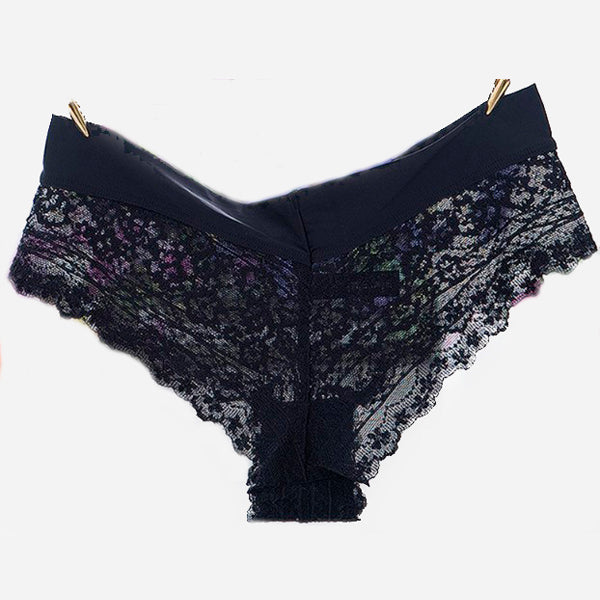 Seamless Lace Satin Hipster Panty