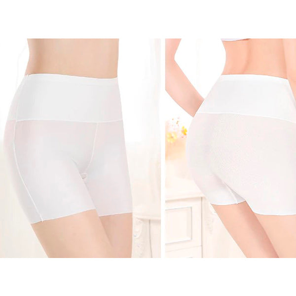 Seamless Solid Satin Boyshorts